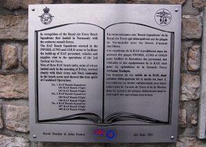 RAF Beach Squadrons plaque