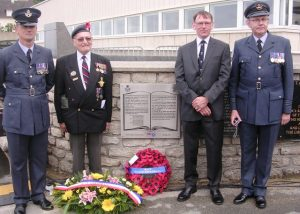 RAF Beach Squadrons plaque inauguration